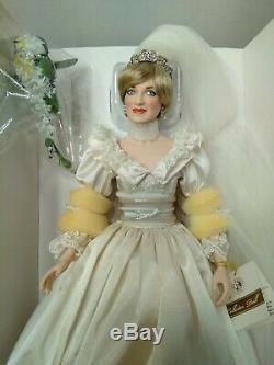 Franklin Mint Princess Diana PORTRAIT OF A PRINCESS Porcelain Doll 17 Bride