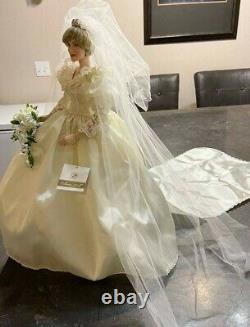 Franklin Mint Princess Diana Porcelain Wedding Bride Doll
