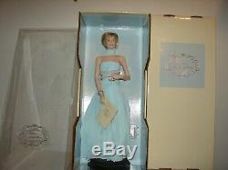 Franklin Mint Princess Diana Portrait Porcelain Doll Light Blue Gown NRFB
