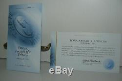 Franklin Mint Princess Diana Royal Porcelain Portrait Doll On Blue Stool W COA