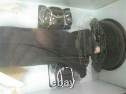 Franklin Mint Princess Diana porcelain 16 Inch Doll In Black Dress NEW COA