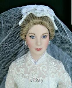 Franklin Mint Princess Grace Kelly Bride Porcelain Doll 16 + Diana Ornament