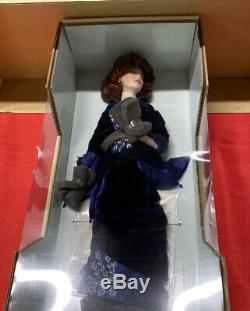 Franklin Mint Rose from Titanic Porcelain Doll with Tonner Blue Velvet