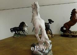 Franklin Mint SILVER Artist Pamela du Bouley Porcelain Horse