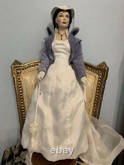 Franklin Mint Scarlett OHara Mill Doll, Porcelain, very RARE! COA! Blue/white