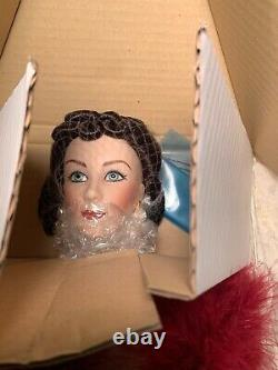 Franklin Mint Scarlett OHara Porcelain Doll Red Dress Gone With The Wind 22