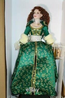 Franklin Mint Shauna Princess of Blarney Castle Irish Porcelain Doll NEW MIB COA