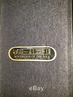 Franklin Mint Sovereign of the Nile Egyptian Sphinx Black Porcelain Statue