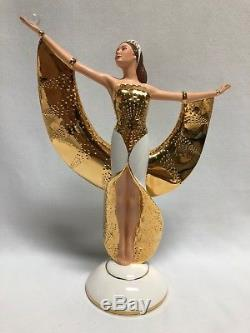 Franklin Mint Sunrise in Gold Art Deco Porcelain Figurine