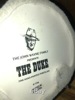Franklin Mint THE DUKE JOHN WAYNE Hand Painted Porcelain Figurine