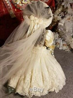 Franklin Mint The Bru Bride 1991 Reproduction Vintage Victorian French Doll
