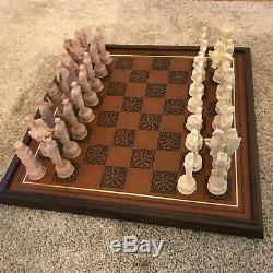 Franklin Mint The Great Crusaders Tesori Porcelain Chess Set