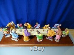Franklin Mint The Last Supper Complete set of Porcelain Figures Table- Base