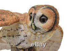 Franklin Mint The Tawny Owl Porcelain 11 Figurine By George McMonigle