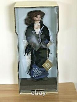 Franklin Mint Titanic Rose 18 Porcelain Doll Blue Velvet Dress Flying Scene