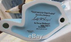 Franklin Mint Triumph Of The Eagle Porcelain Sculpture Signed George McMonigle