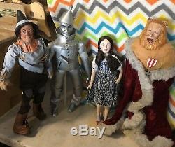 Franklin Mint Wizard Of Oz Full Size Porcelain Dolls Set Of 4