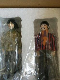 Franklin Mint all 4 BEATLES Stand-up 4 Tall Porcelain FIGURES SET withCOA NRFB