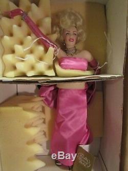 Franklin Mint boxed Marilyn Monroe doll certificate, gentlemen prefer blondes