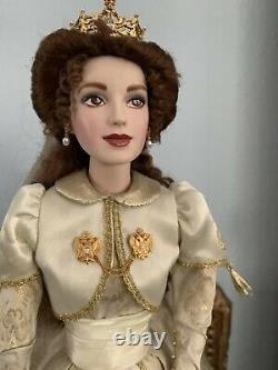 Franklin Mint porcelain Faberge autumn bride doll. RARE, gorgeous, a Lost Art