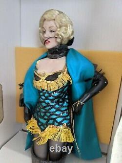 Franklin heirloom Marilyn Monroe green dress NEW porcelain doll vintage