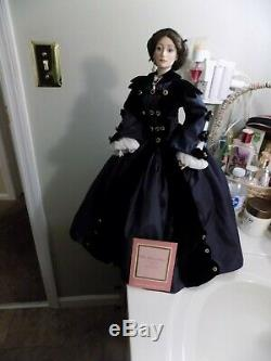 Franklin mint gone with the wind porcelain mrs ohara hard to find with coa