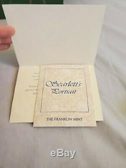 GWTW Franklin Mint Scarlett's Portrait Porcelain Doll Gone With the Wind -in Box