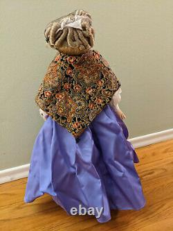 Gone With The Wind Franklin Mint Porcelain Doll Aunt Pittypat 20 Stand Shawl