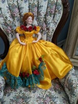 Gone With the Wind BELLE WATLING Franklin Mint Porcelain 20 Doll/box