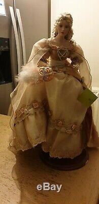 Gorgeous Rare Franklin Mint Heirloom 18 Doll/ Ringlet/mask