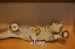 Grace & Power Franklin Mint Bengal 25 Tiger On the Prowl Porcelain with Stand Box