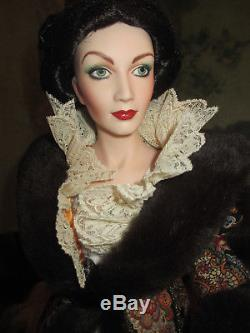 Gwtw Paisley Robe Franklin Mint Scarlett Gone With The Wind Porcelain Doll Coa