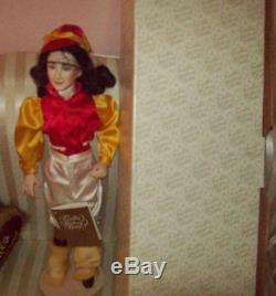 HTF ELIZABETH TAYLOR Franklin MInt Porcelain Doll MIB