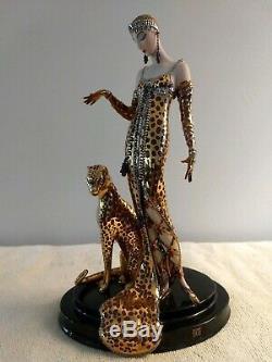 House Of Erte Franklin Mint Ocelot Porcelain Figurine
