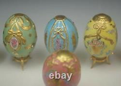 House Of Faberge Franklin Mint Imperial Egg Collection Set Of 12 Porcelain Eggs