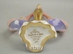 House of Erte Daybreak in Gold Vintage Fine Porcelain Figurine Franklin Mint