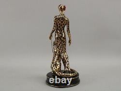 House of Erte Leopard #3079 Limited Vintage Porcelain Figurine Franklin Mint