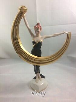 House of Erte Promise of Gold Vintage Fine Porcelain Figurine Franklin Mint