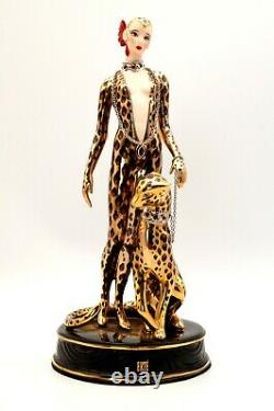 House of Erte The Franklin Mint Leopard Figurine Limited Edition A 3677 w Box