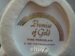 Htf Franklin Mint Erte Promise Of Gold Porcelain Women Figurine