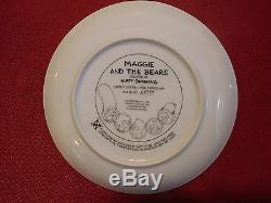 LOT OF 6 Simpsons limited edition Porcelain Plate Set Franklin Mint