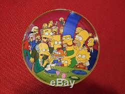 LOT OF 6 Simpsons limited edition Porcelain Plate Set Franklin Mint
