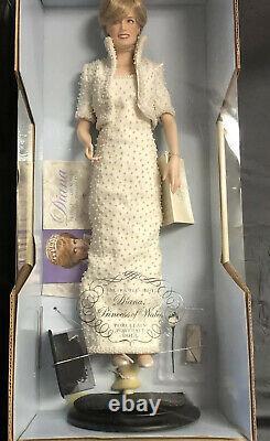 Lady Diana Princess Of Wales Porcelain Doll Franklin Mint NIB With COA F2-8