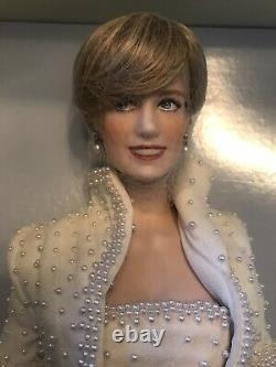 Lady Diana Princess Of Wales Porcelain Doll Franklin Mint NRFB