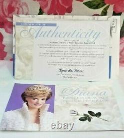 Lady Diana Princess of Wales 17 Porcelain Doll Franklin Mint Box & Certificate