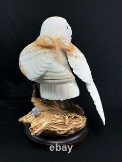 Large 10 Franklin Mint Porcelain Figurine The Barn Owl George McMonigle