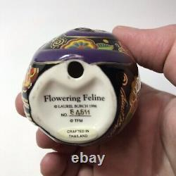 Laurel Burch Porcelain Cat Egg Figurines Named and Numbered Lot Of 6