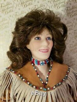 Loretta Lynn Porcelain Doll Manufactured By Franklin Heirloom Dolls In 1988