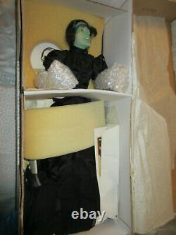 Lot 3 Franklin Mint Dorothy & The Wicked Witch & Glinda Porcelain Dolls in Boxes