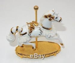 Lot Of 11 Franklin Mint World Of Carousel Horse Porcelain Figurine Sculptures